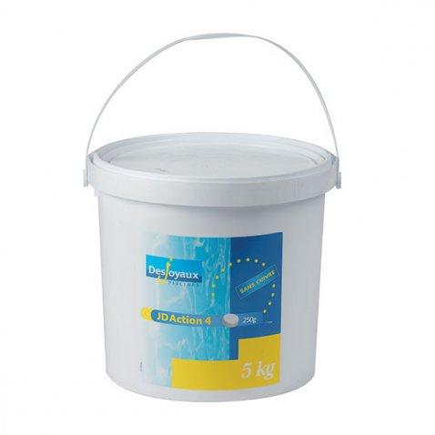 Jd chlore 4 actions sans cuivre 5kg - Anti algues piscine sulfate de cuivre ...